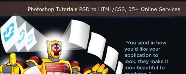 PSD to XHTML CSS Design Service Providers and Tutorials