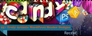 WordPress theme header designs