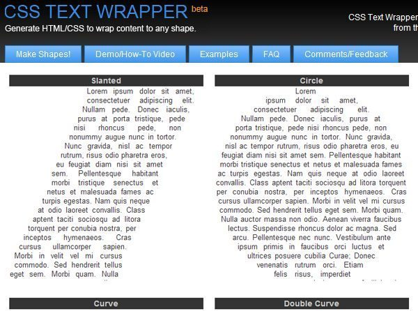 CSS-Text-Wrapper