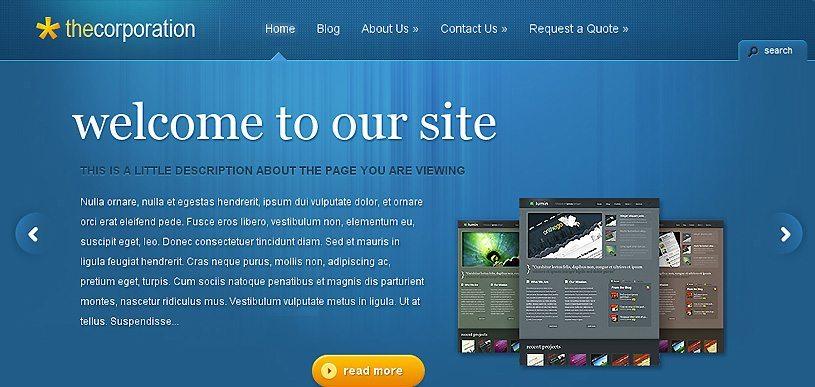Thecorporation WordPress Theme