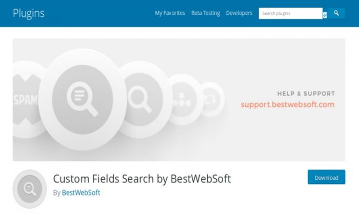 Custom Fields Search by BestWebSoft