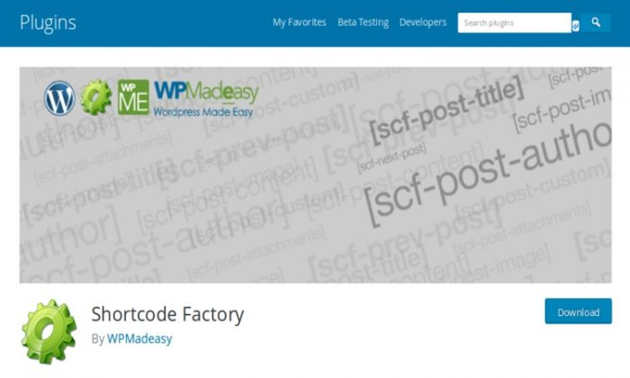 Shortcode Factory