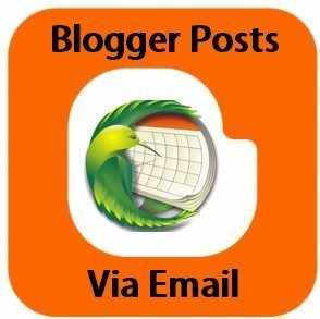 blogger posts via email