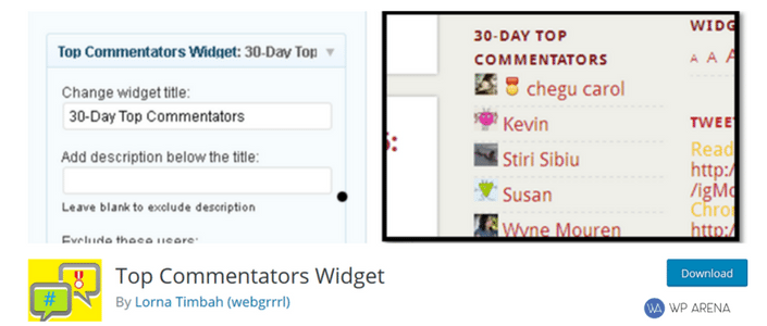 top comment widget