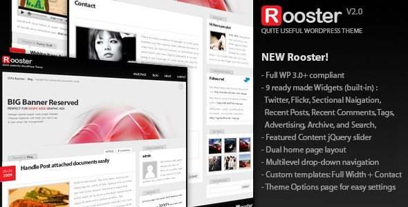 Sofa Rooster, WordPress theme