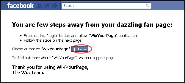 WixYourPage_App