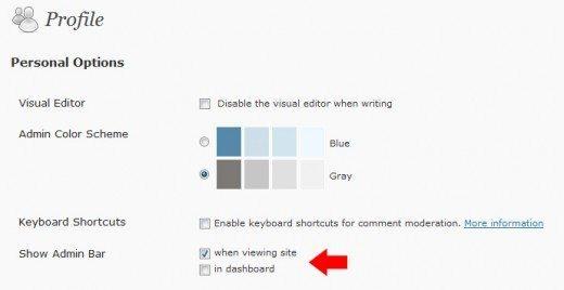 WordPress-3.1-Admin-Bar-Control