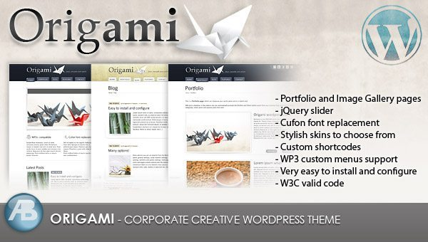 Origami WordPress Theme