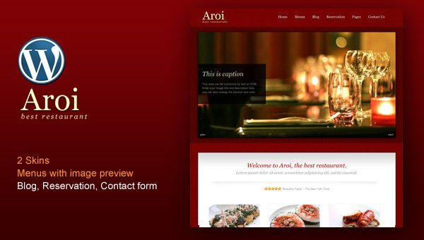 Restaurant WordPress Theme Aroi