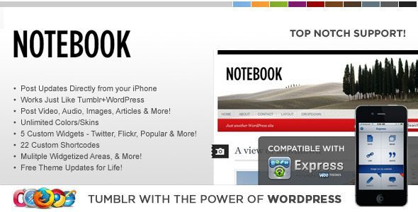 WP-Notebook-WordPress-Theme