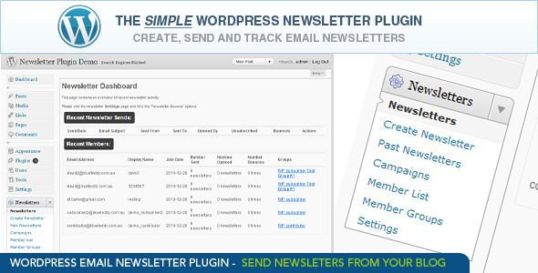 WordPress Email Newsletter Plugin