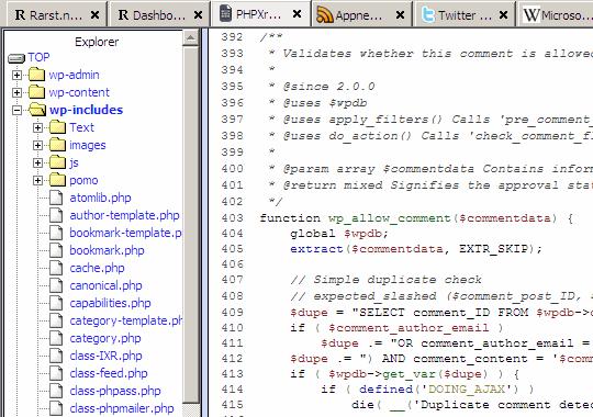 phpxref_documentation