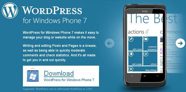 WordPress Windows Phone7
