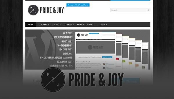 pride joy WordPress theme