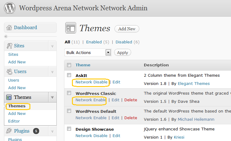 Network-SitesThemes