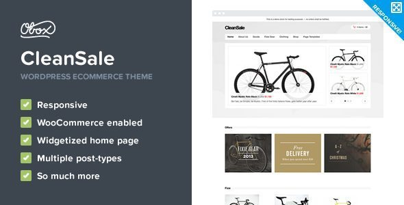CleanSale-WordPress eCommerce Theme