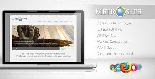 Envato free files - Metrosite-template