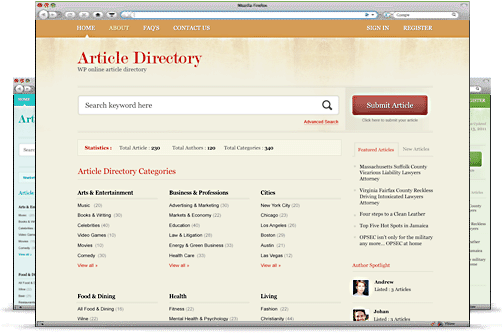 ArticleDirectory WP Theme