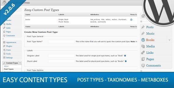 Easy Custom Content Types WordPress