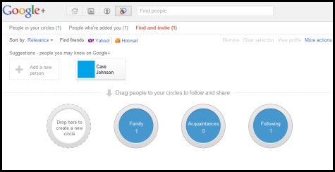 Googleplus create circle