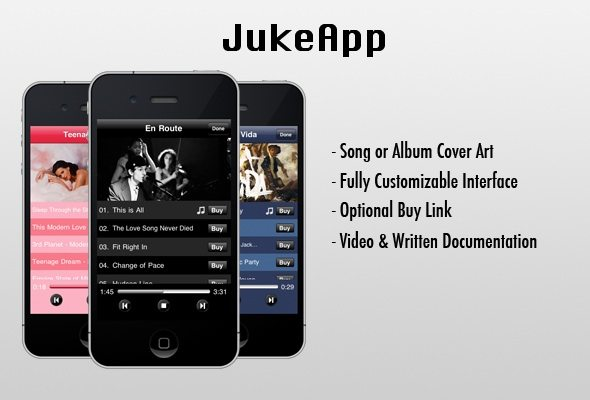 JukeApp iPhone Music Player Plugin