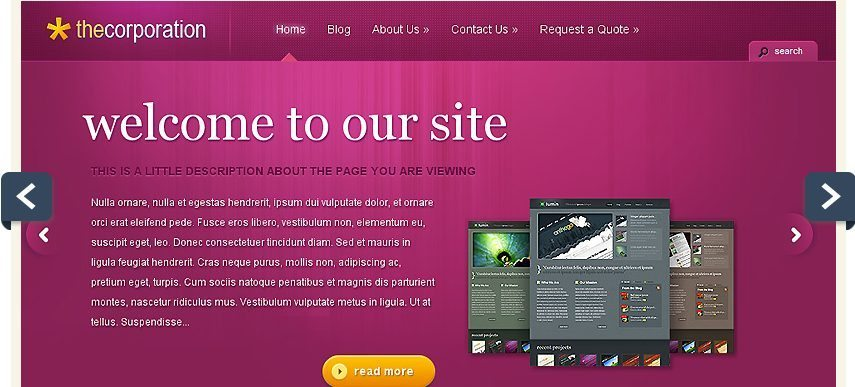 TheCorporation WordPress Theme