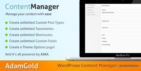 WordPress Content Types Manager