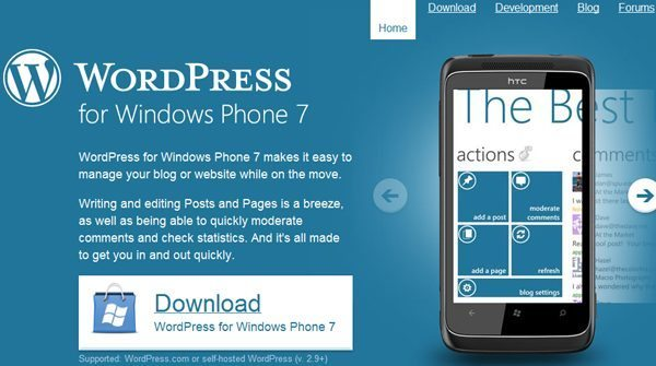 WordPress Windows Phone 7