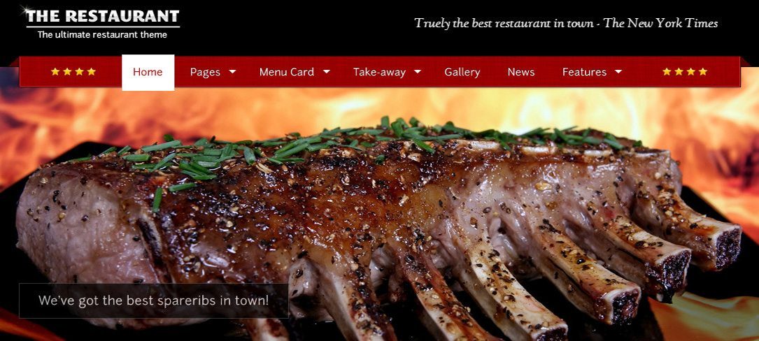 Restaurant WordPress Theme - The Restaurant