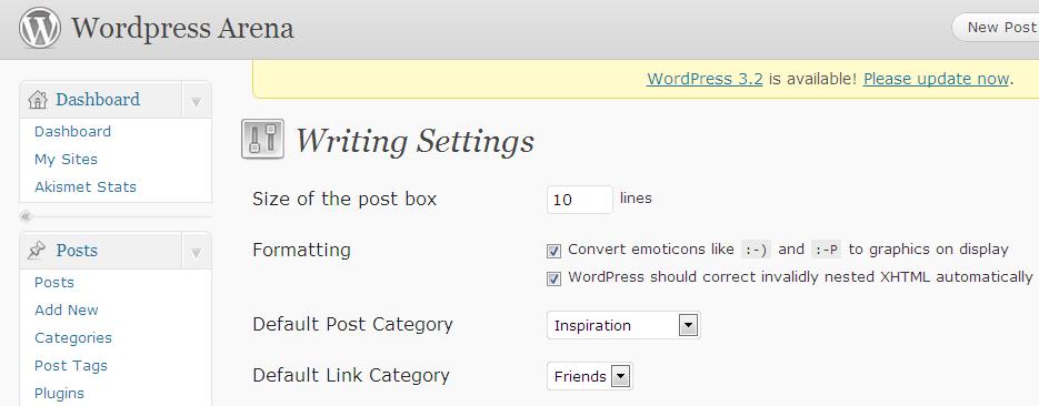 error in new WordPress posts
