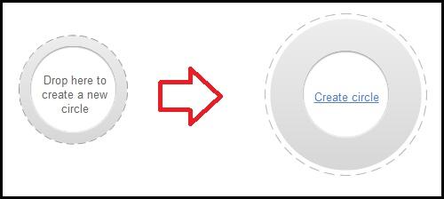 create circle googleplus