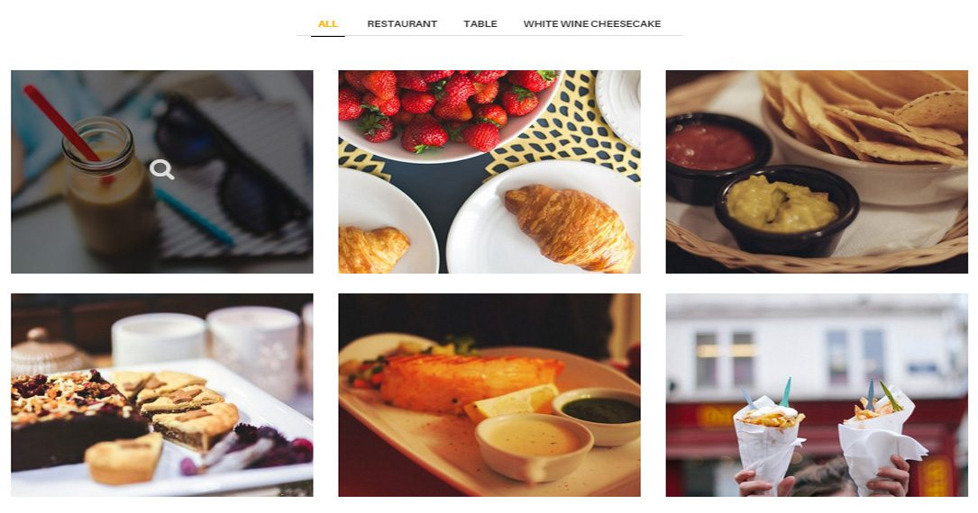 Gallery - Essential Element for a Restaurant WordPress Theme