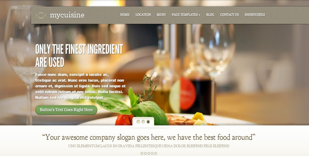 Mycuisine - Restaurant WordPress Theme