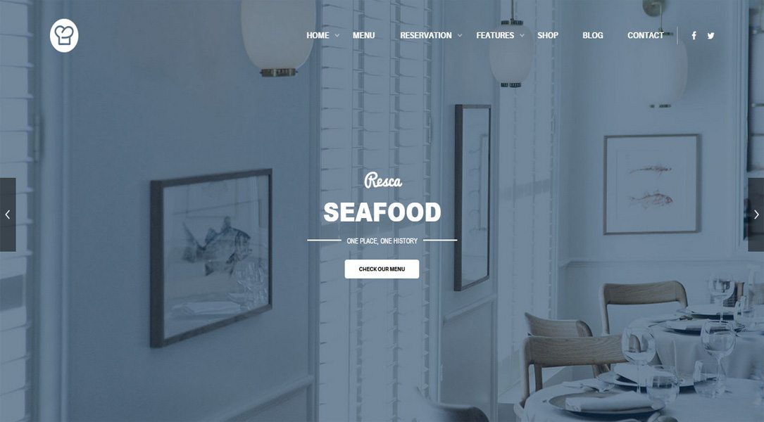 Restaurant WordPress Theme Responsive - Resca