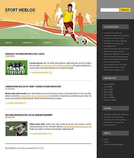 Templatemonster sport WP theme