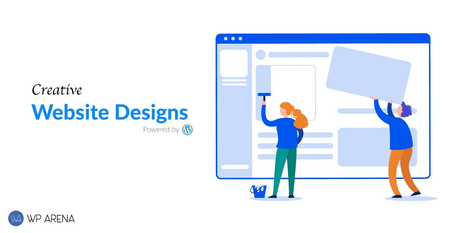 Creative website designs powered by WordPress