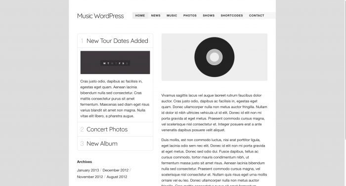 Music WordPress