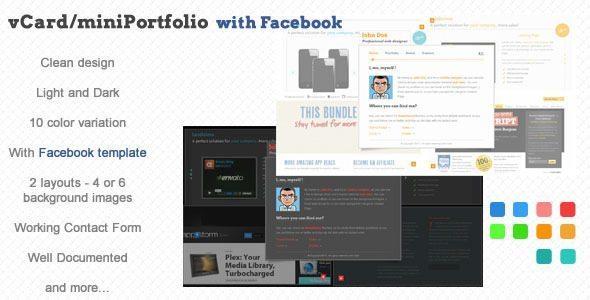 Facebook Vcard Template