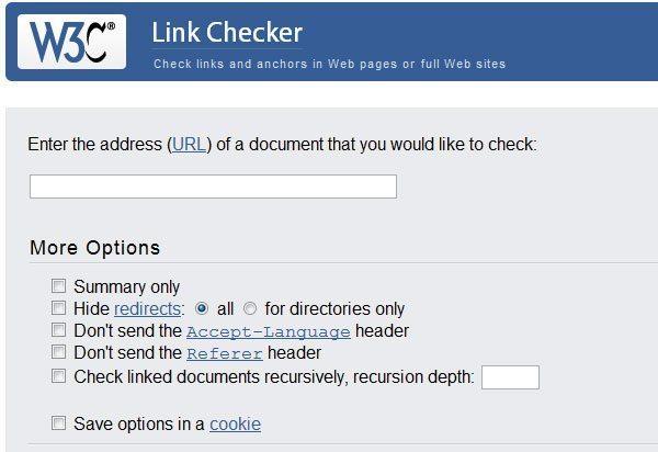 w3c broken link checker