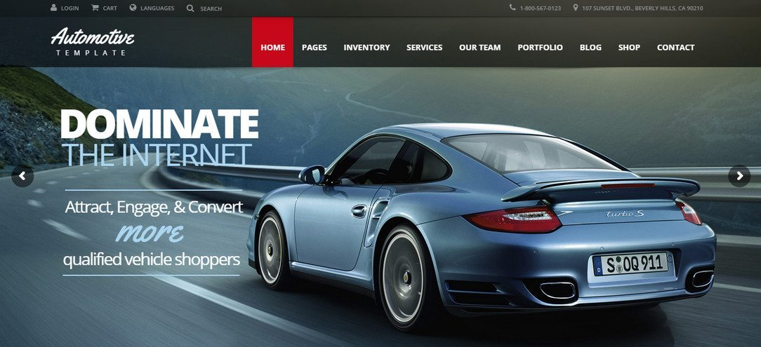 Automotive Car Dealership WP Theme
