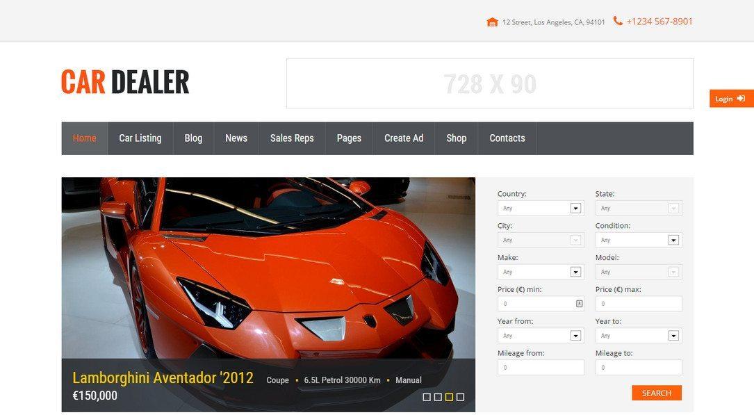 Car Dealership Premium WordPress Theme