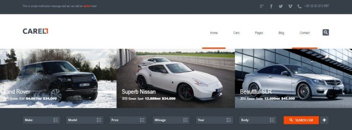 Carell - WordPress Car Dealership Theme