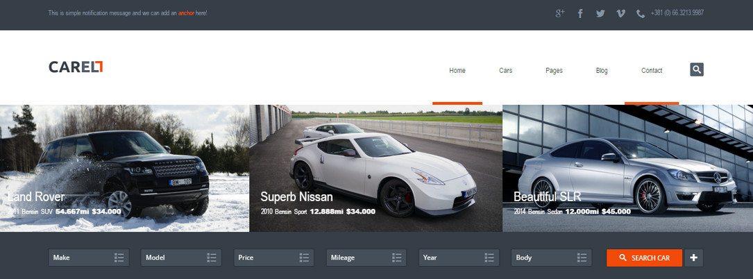 Carell - WordPress Car Dealership Theme