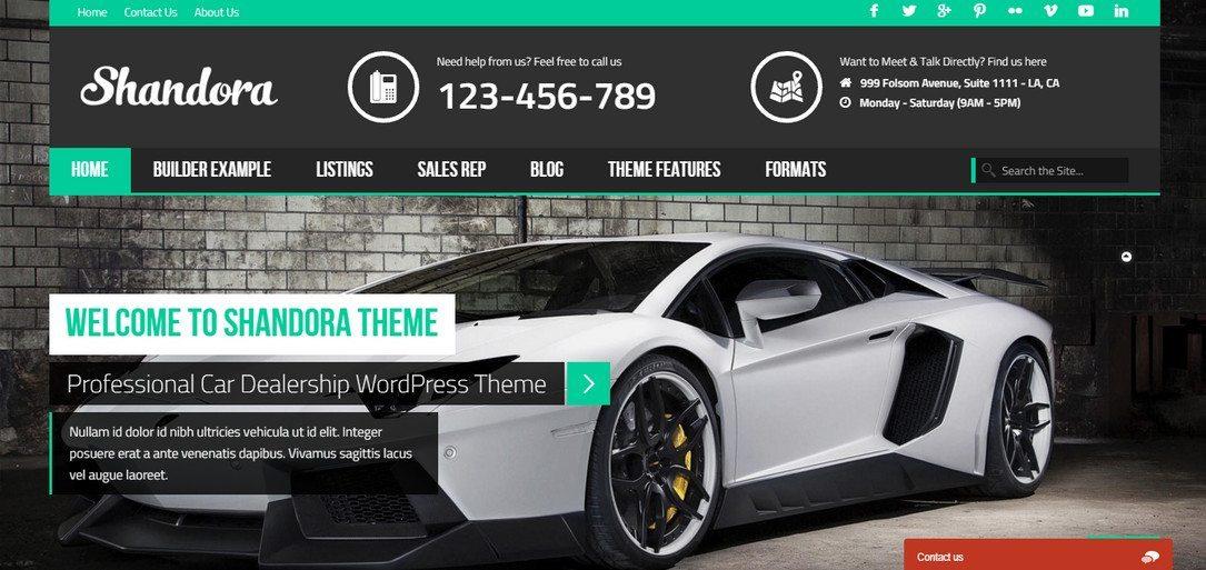 Shadora Car Dealership Wp Theme