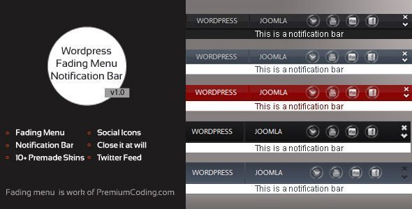 WordPress fading css3 menu plugin