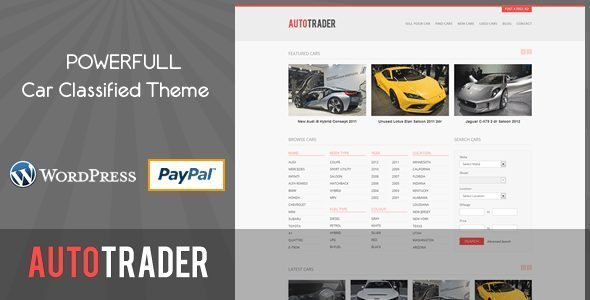 Autotrader-Car Classified Theme