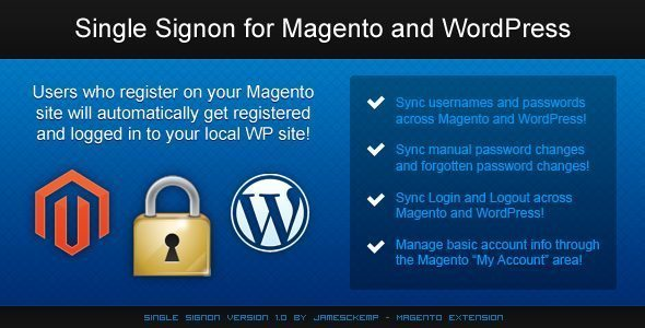 Single Sign On Magento WordPress