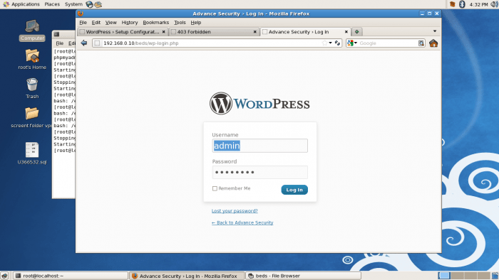 WordPress installed