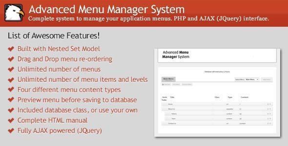 WordPress Advanced Menu Manager System