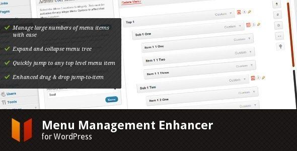 Menu Management Enhancer for WordPress
